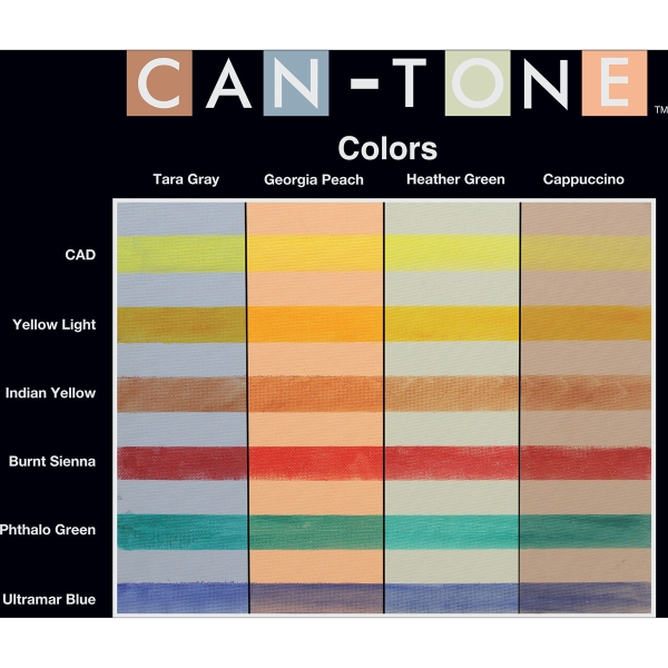 Can-Tone shown with pastels