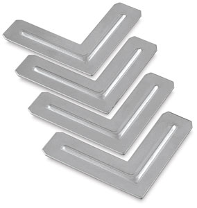 Steel Corners for Stretcher Bar, Pkg of 4