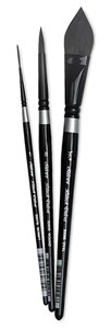 Black Velvet Watercolor Brushes, Set of 3