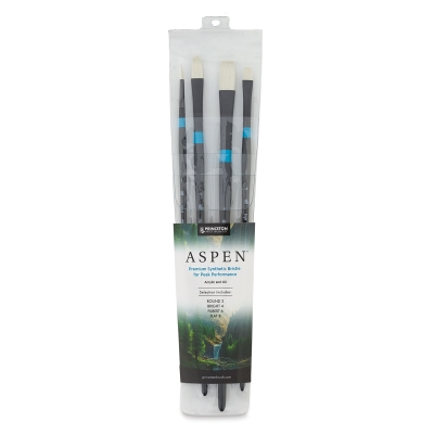 Aspen Synthetic Brushes, Set of 4