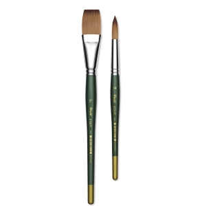 Utrecht Series 6150 Synthetic Golden Taklon Watercolor Brushes