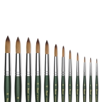 Utrecht Series 6150 Synthetic Golden Taklon Round Watercolor Brushes