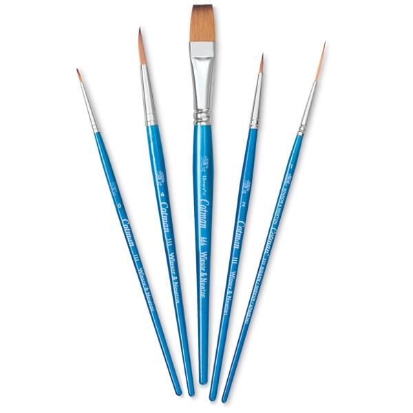 Cotman Watercolor Brushes Set D, Set of 5