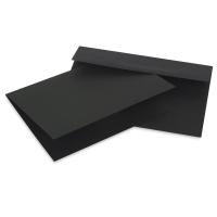 Artagain Coal Black Cards and Envelopes, Pkg of 10