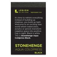 Stonehenge Aqua Black Watercolor Paper Pad, 15 Sheets