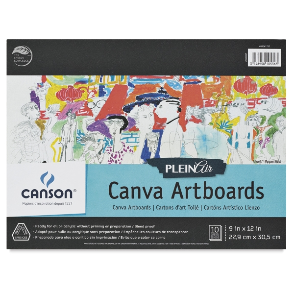 Plein Air Canva Artboards, Pkg of 10 Sheets