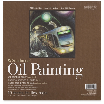 "400 Series Oil Painting Paper Pad, 12"" x 12"""
