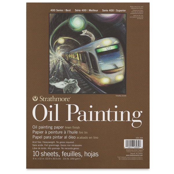 "400 Series Oil Painting Paper Pad, 9"" x 12"""