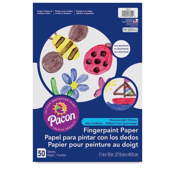 Finger Paint Paper, 50 Sheet Pack