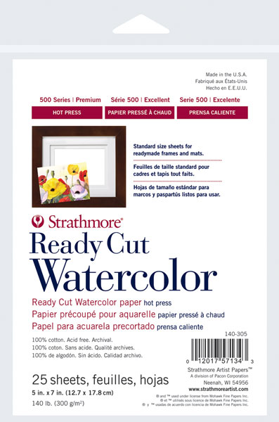 Hot Press Ready Cut Watercolor Sheets