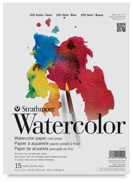 strathmore 200 series watercolor paper student pad blick art materials