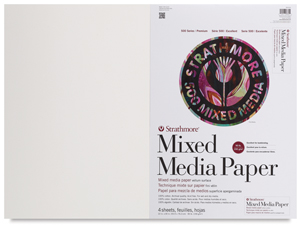 "500 Series Mixed Media Sheets, Pkg of 4, 22"" × 30"""
