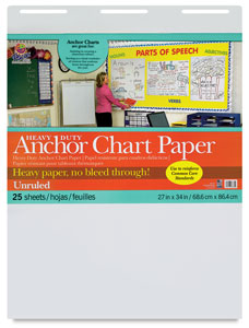 Heavy Duty Anchor Chart Paper, Non-Gridded