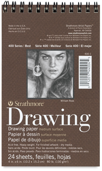 "Drawing Paper Pad, 24 Sheets, 4"" × 6"""