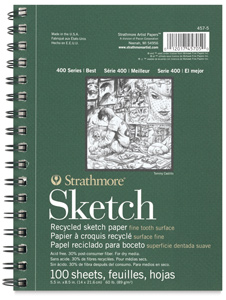 "Sketch Pad, Portrait, 100 Sheets, <br>8½"" × 5½"""
