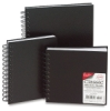 Cachet Classic Wirebound Black Cover Sketchbook