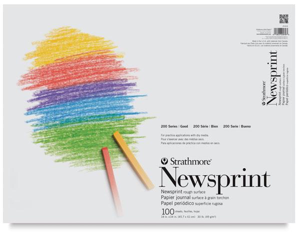 "Newsprint Pad, 100 Sheets<br>18"" × 24"""