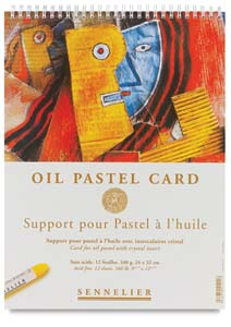 Oil Pastel Card, 12-Sheet Pad