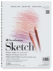 Sketch Pad, 100 SheetsSpiral Bound, Side