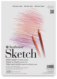 Sketch Pad, 100 Sheets<br>Tape Bound, Top