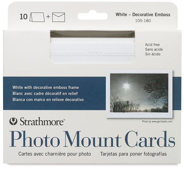 Photo Mount Cards, Decorative Emboss
