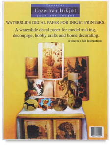 make water slide decals for models and crafts