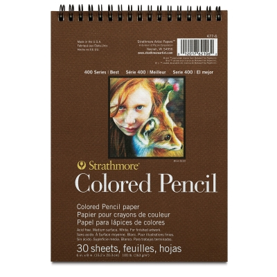 "400 Series Colored Pencil Pad, 6"" x 8"""