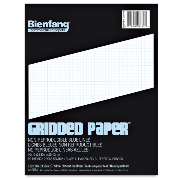 Gridded Paper, 10 × 10 Grid