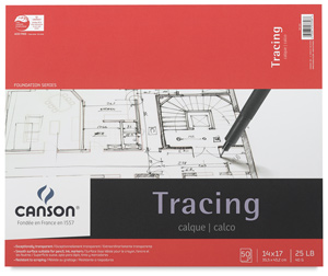 "Tracing Pad, 50 Sheets, 14"" × 17"""