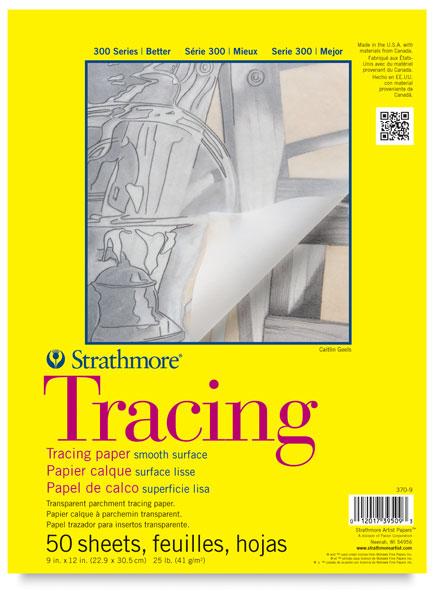"Tracing Paper Pad, 50 Sheets<br>9"" × 12"""