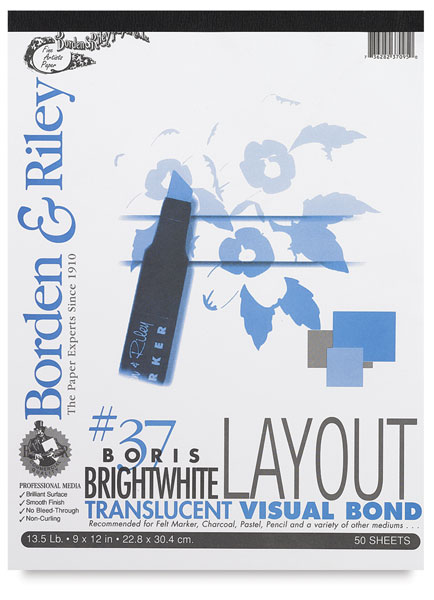 Boris Layout Paper, 50 Sheet Pad