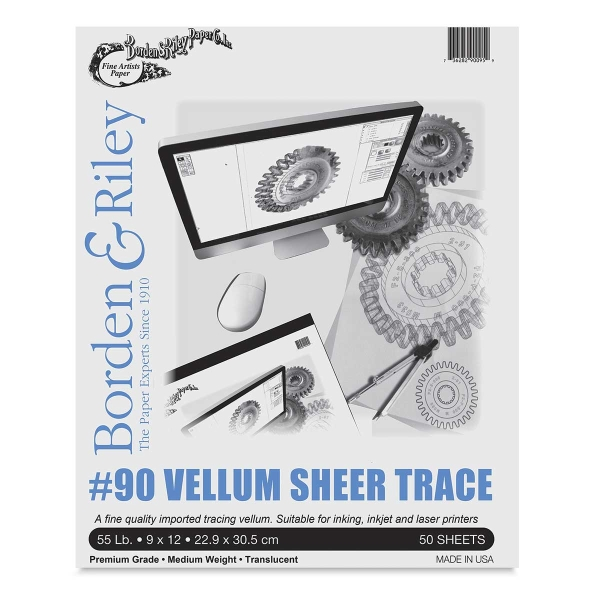 #90 Vellum Sheer Trace, 50-Sheet Pad