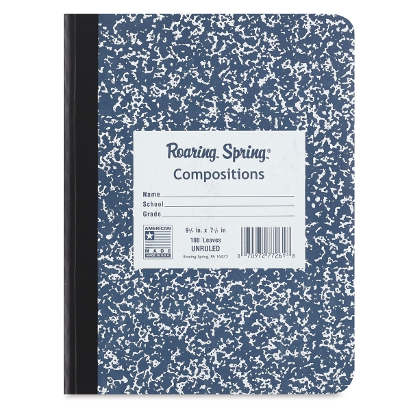 Composition Notebook, 100 Sheets, Blank