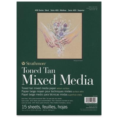 400 Series Toned Mixed Media Pad, Tan