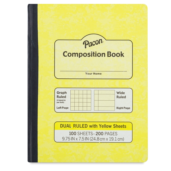 Dual Ruled Composition Book, 100 Sheets (200 Pages)