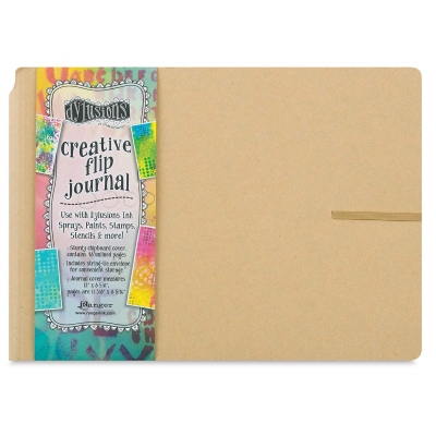 "Dylusions Creative Flip Journal, 9"" × 11-13/16"""