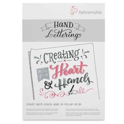 Hand Lettering Pad, 25 Sheets