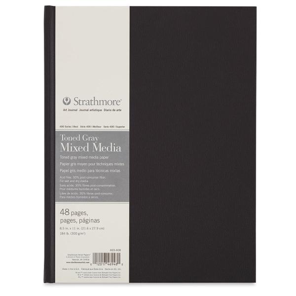 Hardbound Toned  Mixed Media Artist Journal, Gray