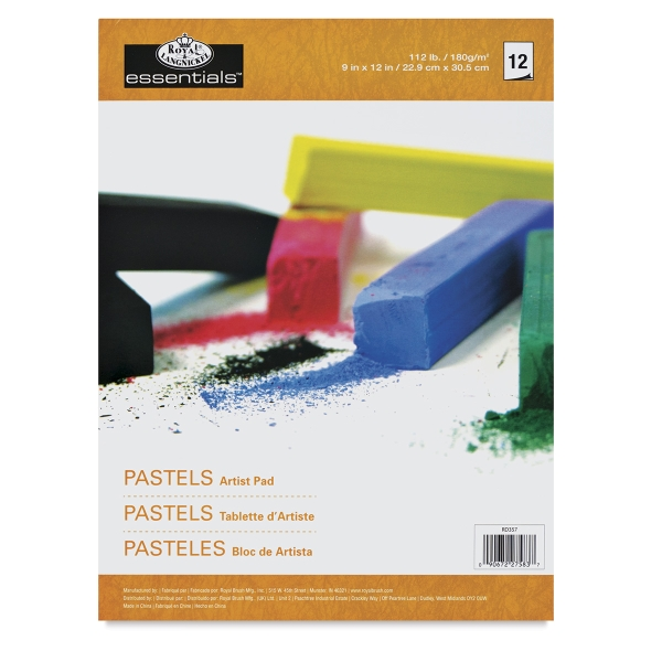 Pastel Pad, 12 Sheets, White