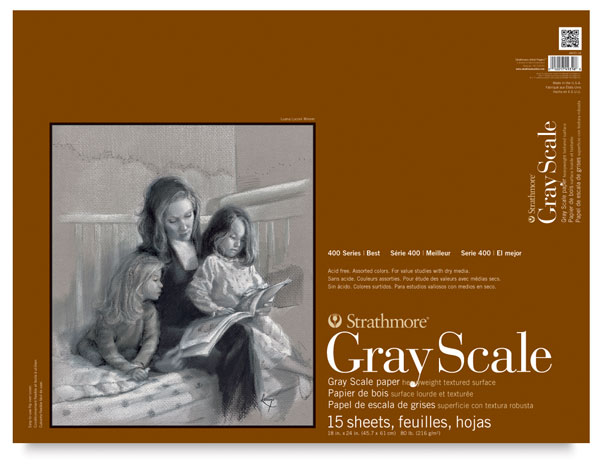 "Gray Scale Pad, 15 Sheets<br>18"" × 24"""