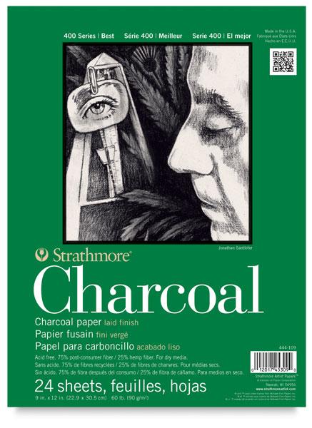 Charcoal Pad, 24 Sheets<br>Portrait