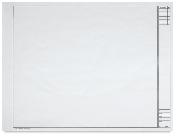 "Engineering Vellum, Individual Sheet 18"" × 24""<p>Vertical Title Block</p>"