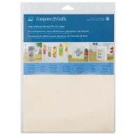 Inkjet Film, Adhesive, Clear, Pkg of 6