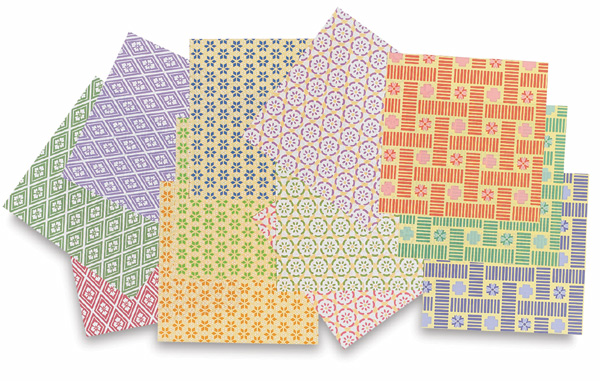 Chiyogami Paper, Pkg of 48