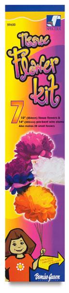 Tissue Flower Kit, 7 Flowers