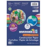 Pacon Riverside 3D Construction Paper, Pkg of 220 Sheets