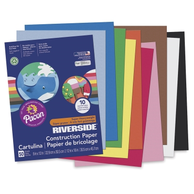 Pacon Riverside 3D Construction Paper, Pkg of 50 Sheets