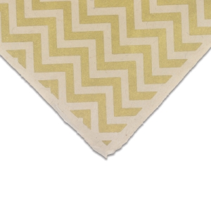 Chevron (Gold and Cream)