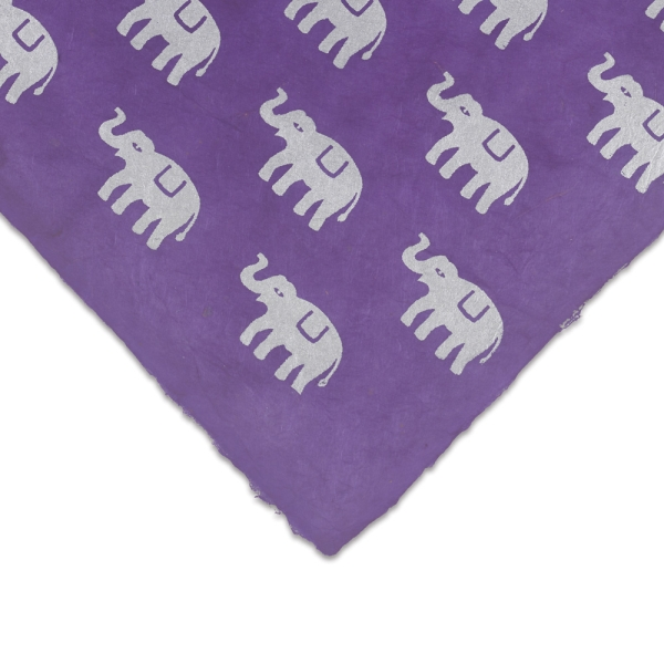 Elephant (Silver and Violet)