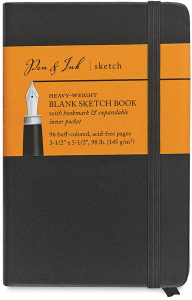 """Blank Sketchbook, 48 Sheets<br>3½"""" × 5½"""" Portrait"""